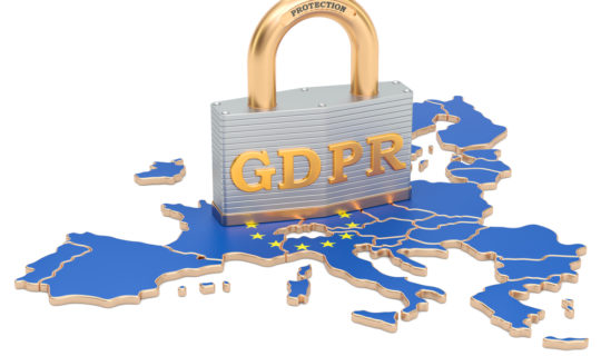 General Data Protection Regulation in the European Union concept,  3D rendering